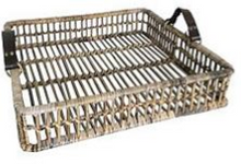 Load image into Gallery viewer, Barossa Kubu Grey Rattan Open Weave Square Tray
