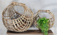 Load image into Gallery viewer, Barossa Set of 2 Open Weave Kubu Grey Rattan Baskets