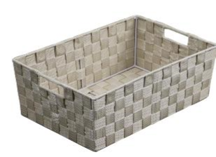 Nylon Weave Beige Large Storage Tray