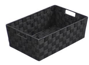 Nylon Weave Brown Large Storage Tray