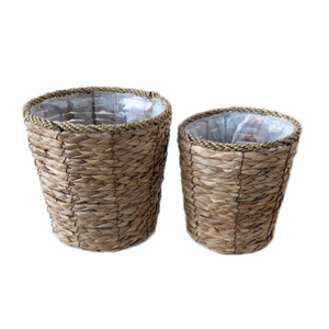 Cattail Set of 2 Planters with Liners