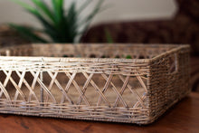 Load image into Gallery viewer, Kubu French Lattice Weave Rattan Tray
