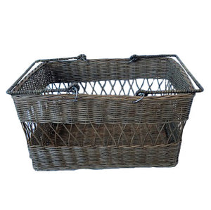 Kubu French Lattice Weave Shopping Basket