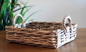 Rattan Rectangle Kubu Grey Tray