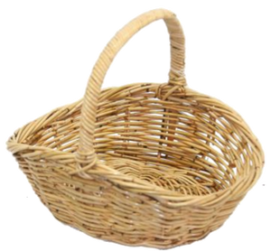 Rattan Oval Dipsided Natural Carry Basket