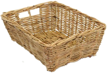 Load image into Gallery viewer, Rattan Tapered Rectangle Natural Tray with Grips
