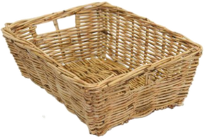 Rattan Tapered Rectangle Natural Tray with Grips
