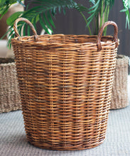 Load image into Gallery viewer, Rattan Tall Round Natural Utility Basket