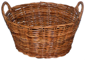 Rattan Oval Natural Utility Basket.