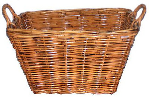 Rattan Rectangle Natural Utility Basket