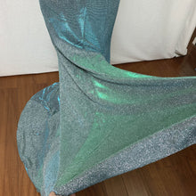 Load image into Gallery viewer, Mermaid Prom Dress 2020 Strapless Silver Green Glitter Long Evening Dress with Slit
