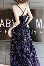 Load image into Gallery viewer, Iridescent Prom Dress 2020 Slip Glitter Big Sequin Maxi Dress