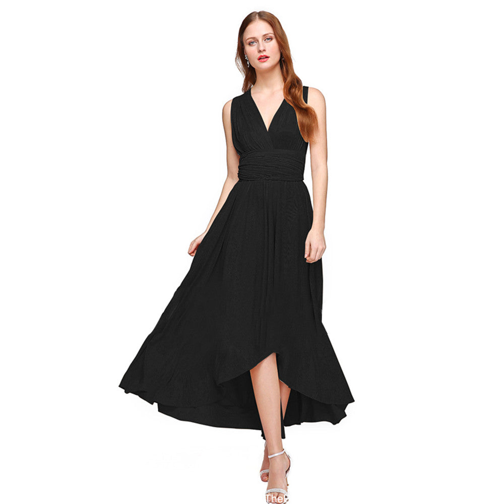 Asymmetrical Convertible Maxi Dress Infinity Wrap Dress