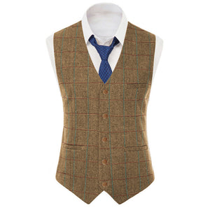 Green Mens Vest Made to Order Wedding Groomsmen Waistcoat