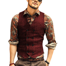 Load image into Gallery viewer, Made to Order Dark Grey Men's Suit Vest 2 Pockets Waistcoat