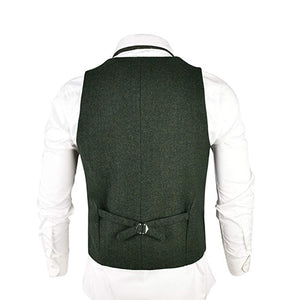 Made to Order Army Green Men Suit Vest