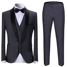 Load image into Gallery viewer, Made to Order Men's Suit 3 Pieces Burgundy Tuxedo Pants Vest Wedding Prom