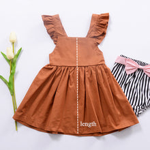 Load image into Gallery viewer, Burnt Orange Cotton Girls Dress