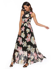 Load image into Gallery viewer, Floral Convertible Maxi Dress Ready to Wear Chiffon Wrap Dress