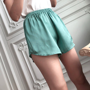 Women Silk Shorts in 8 Colors Homewear Sleepwear & Outside Wear