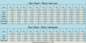 Made to Order Men's Slim Fit 3 Piece Suit One Button Blazer Tux Vest & Trousers