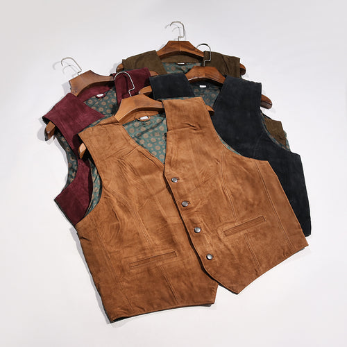 Suede Mens Vest Ready to Wear