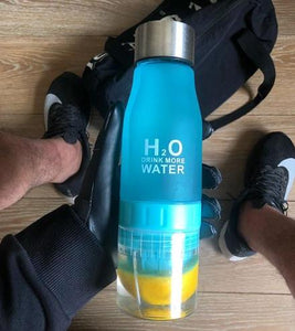 A Day At The Beach With My Infuser Plastic Water Bottle