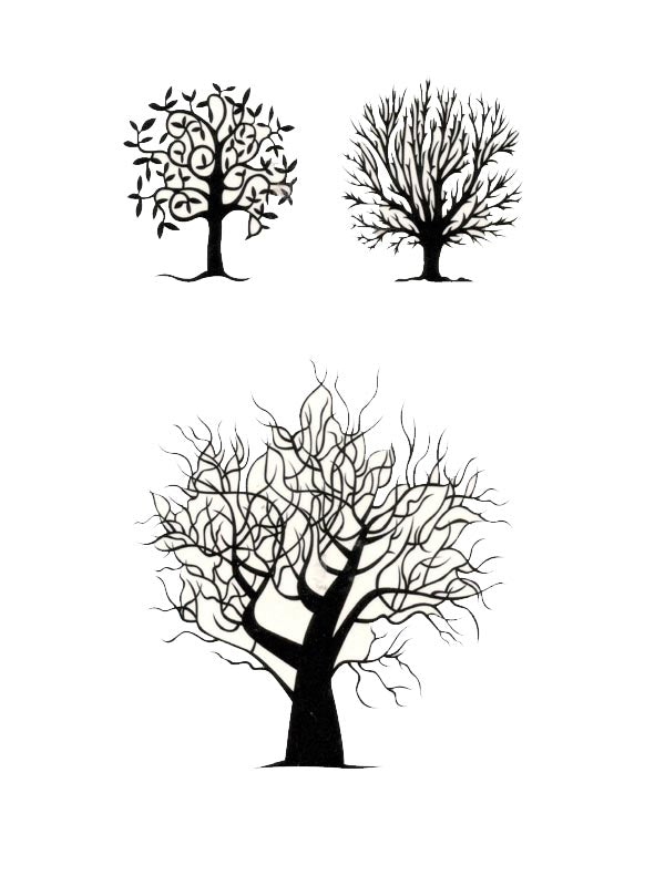B&W Trees - Tatouage Ephémère - Tattoo Forest