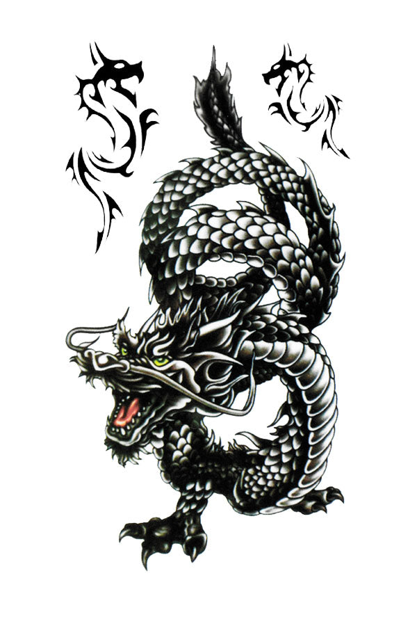 Black Dragons - Tatouage Ephémère - Tattoo Forest