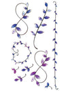 Blue & Purple Flower Necklaces - Tatouage Ephémère - Tattoo Forest