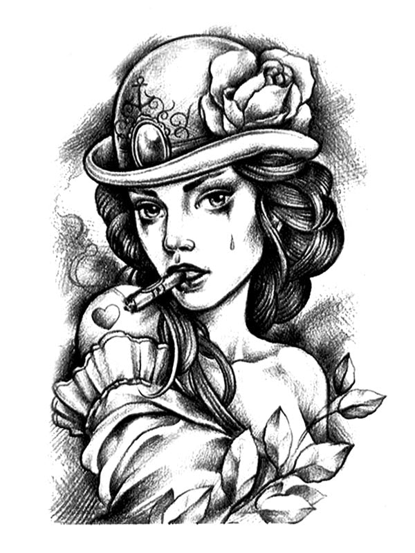 Cigar Beauty - Tatouage Ephémère - Tattoo Forest