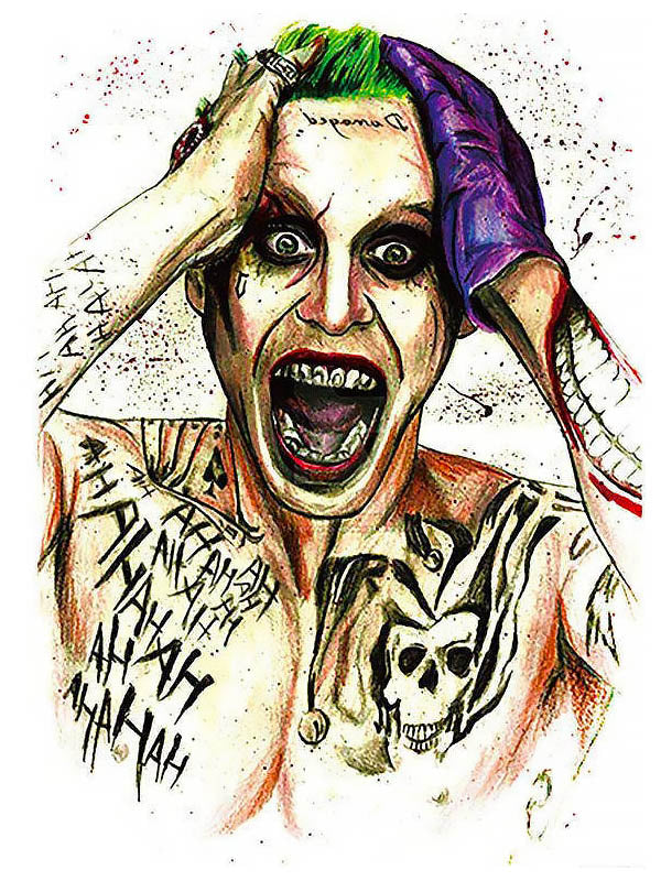 Crazy Punk Joker - Tatouage Ephémère - Tattoo Forest