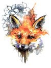 Red Fox - Tatouage Ephémère - Tattoo Forest