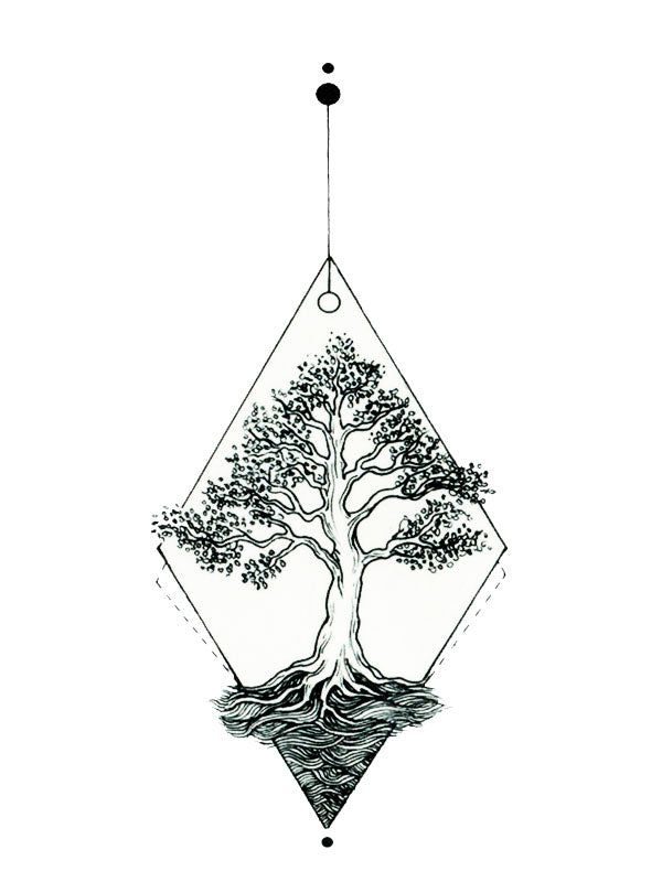 Diamond Tree - Tatouage Ephémère - Tattoo Forest