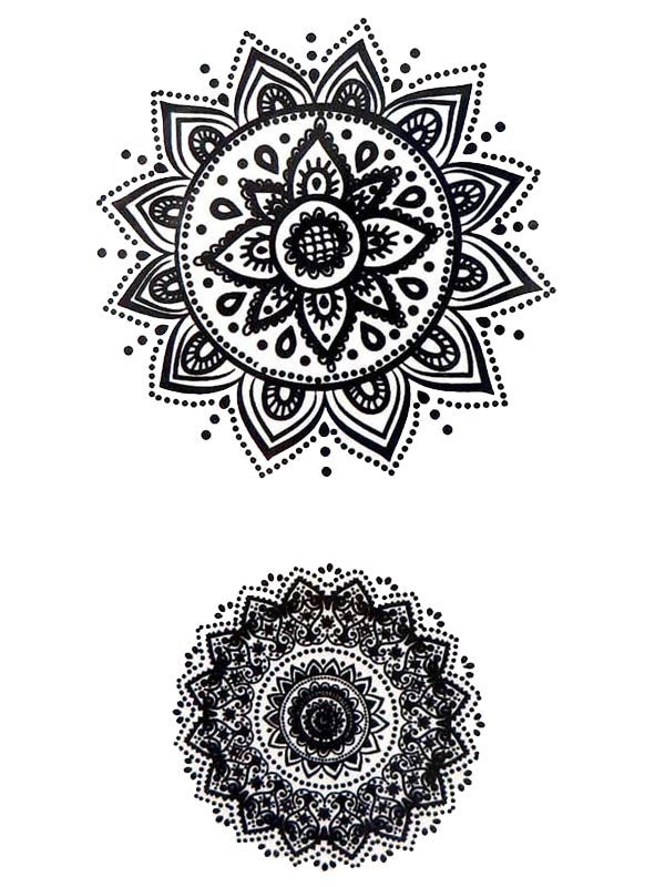 Duo of Mandalas - Tatouage Ephémère - Tattoo Forest