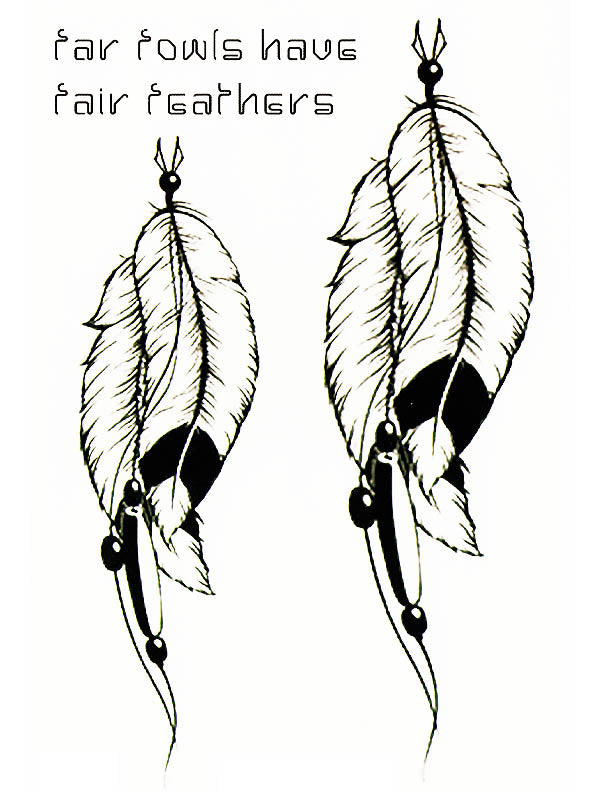 Far Fowls Have Fair Feathers - Tatouage Ephémère - Tattoo Forest