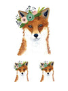 Flowered Fox - Tatouage Ephémère - Tattoo Forest