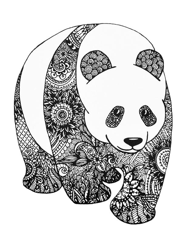 Flowered Panda - Tatouage Ephémère - Tattoo Forest