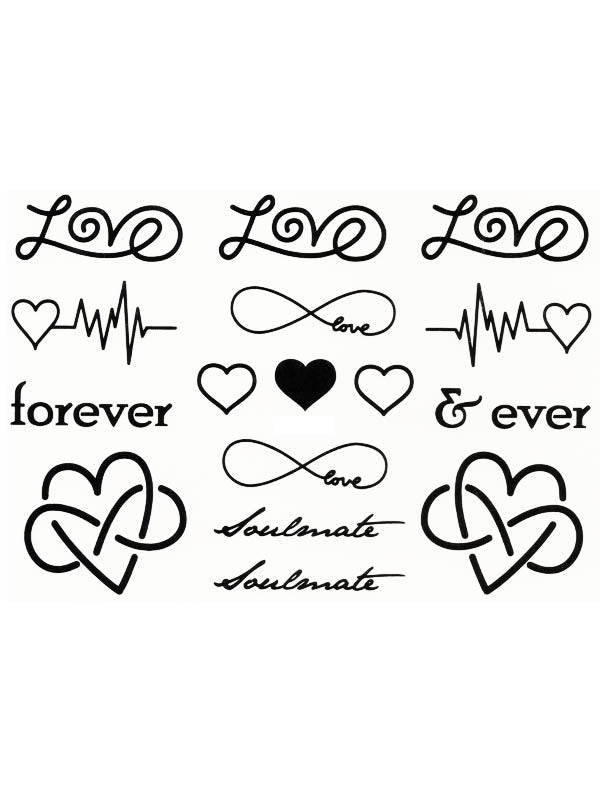 Forever in Love - Soulmate Hearts - Tatouage Ephémère - Tattoo Forest