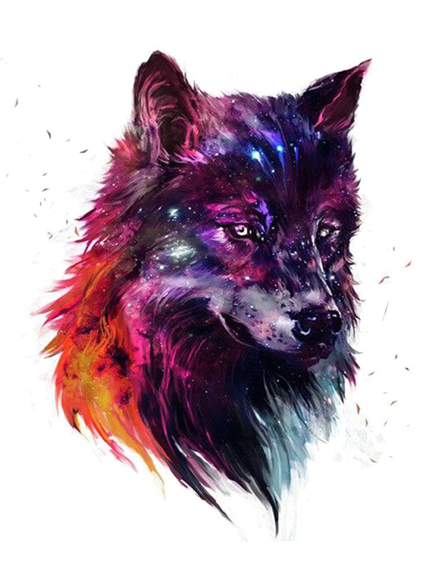 Galaxy Wolf - Tatouage Ephémère - Tattoo Forest