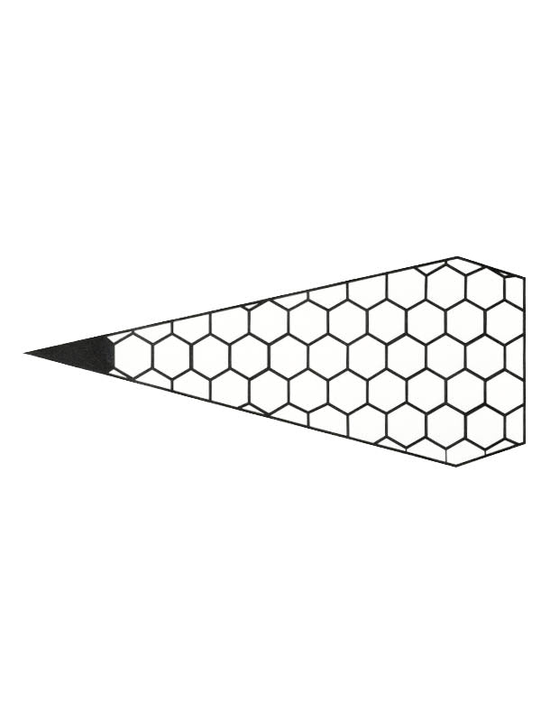 Geometric Honeycomb-Shaped Diamond - Tatouage Ephémère - Tattoo Forest