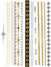 Gold, Silver and Black Bracelets and Necklaces - Tatouage Ephémère - Tattoo Forest