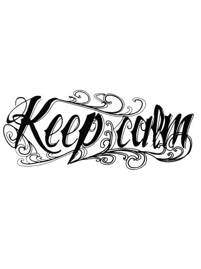 Keep Calm - Tatouage Ephémère - Tattoo Forest
