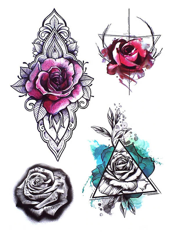Lotus Flower and Geometric Rose