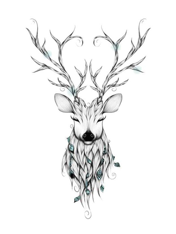 Magic Deer - Tatouage Ephémère - Tattoo Forest