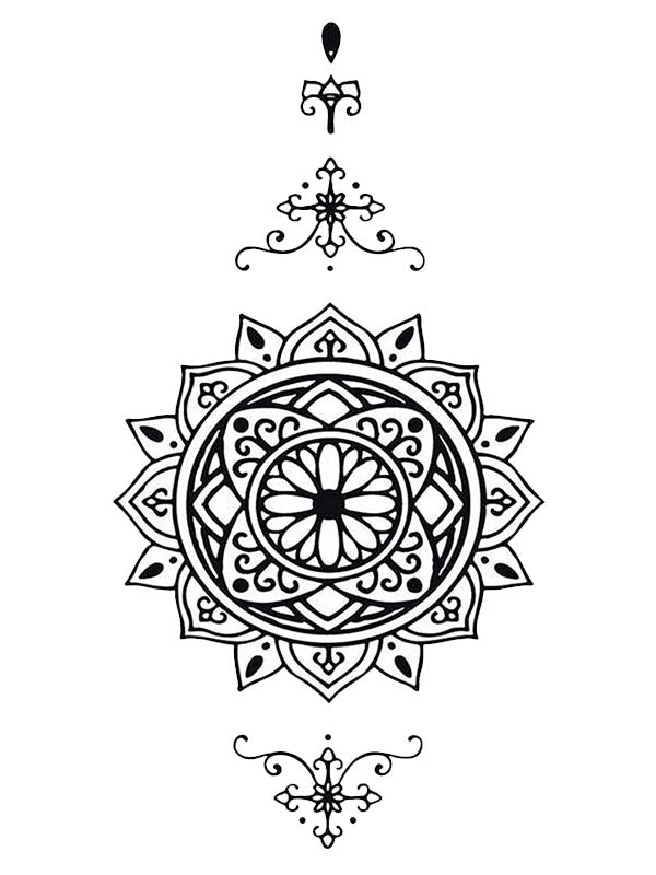 Mandala Body Jewel 1 - Tatouage Ephémère - Tattoo Forest