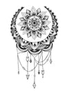 Mandala Dreamcatcher - Tatouage Ephémère - Tattoo Forest