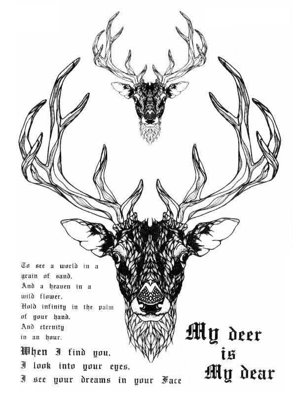 My Deer Is My Dear - Tatouage Ephémère - Tattoo Forest