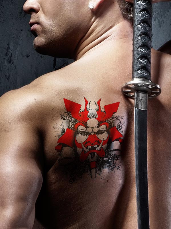 Red Samuraï - Tatouage Ephémère - Tattoo Forest