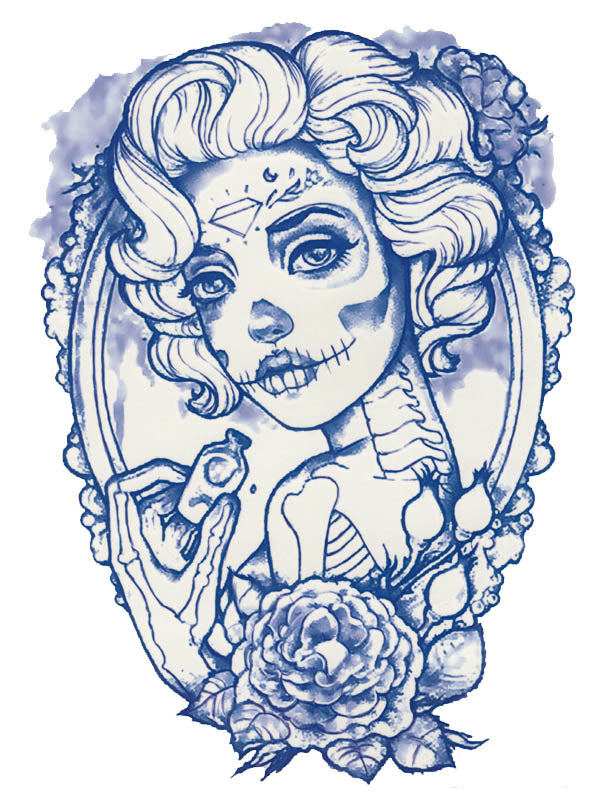 Santa Muerte Marilyn Monroe - Tatouage Ephémère - Tattoo Forest